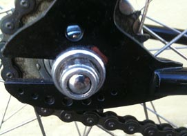 Drilled Campagnolo track rear ends