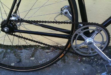 Capagnolo Pista chainset, pedals and hub