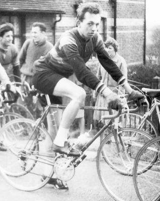 Another image of John on his Fred Dean at the start of the Dulwich Paragon Road Race, 1962