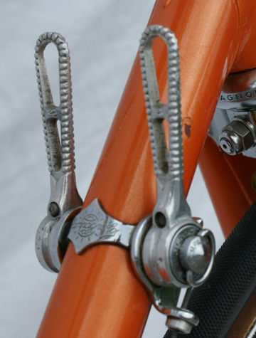 Drilled Campagnolo gear levers