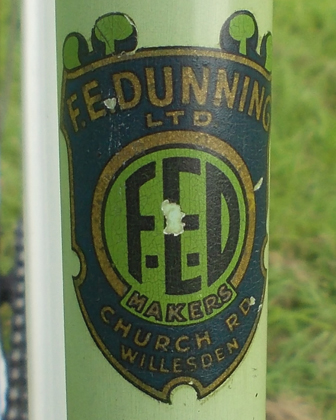 Head and seat tube decal
