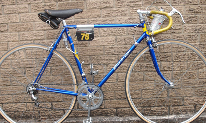 This is the machine on which Ken Russell won the 1952 Tour of Britain as sole rider in the Ellis Briggs team