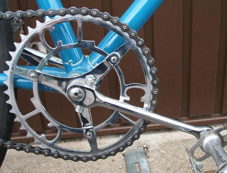 Chater-Lea single chainset with 165mm round cranks