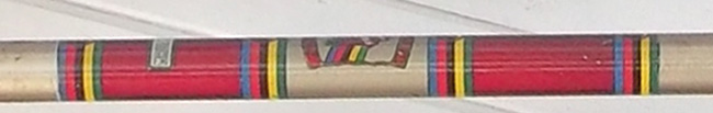 Seat tube panel rotated to horizontal to fit page - here it is as a guide with its original Frejus paintwork