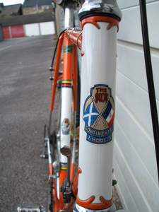 Front view of 'early' Nervex Professional lugs