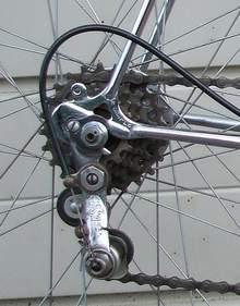 Rear end showing Simplex drop- outs and Tour de France gear