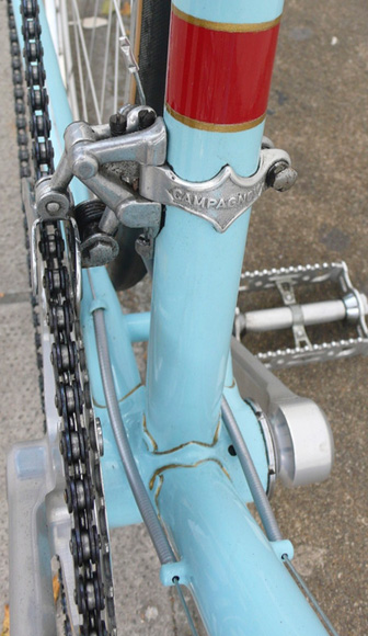 Detail of front changer and BB lugwork