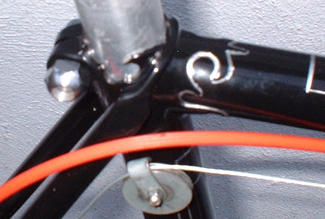Detail of cut-away work and wrapover on seat cluster