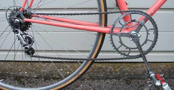 Drive chain with Chater-Lea chainset and pedals, Campagnolo Gran Sport gear and Stallard rear ends