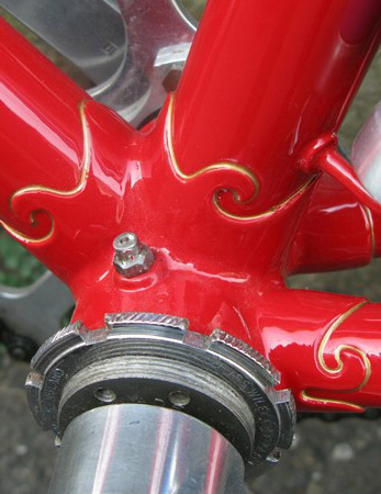 Bottom bracket and seat cluster Nulli Secundus lugs