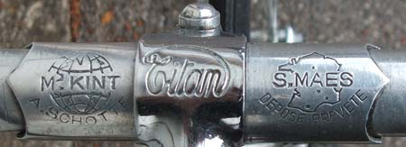 The 'A Schotte' ferrule on the Maes-Kint bars and head of Titan steel stem with the alloy bolt and nut