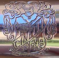 details of engraving on the original handlebar sleeve