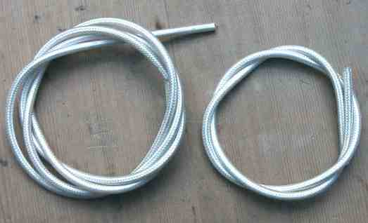 GB braided cable with a waterproof, clear plastic cover.