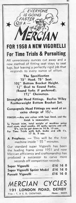 1958 Mercian Advertisement