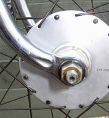 Front fork end