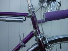 Fantastic 50-year old purple finish with chrome Legere lugs
