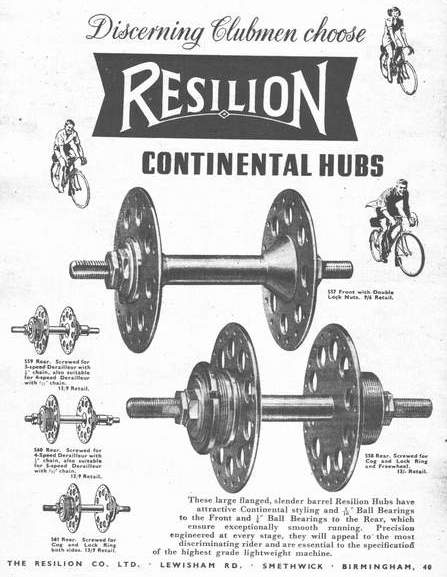 The advert shows the distinctive 'cone' between the barrel and flanges