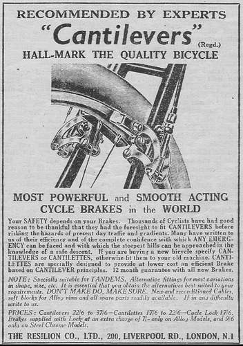 Advert from The Bicycle August 1949