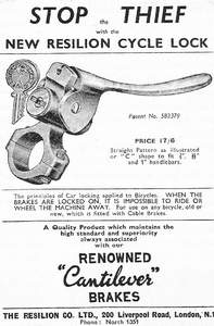 Image of advert for this lever