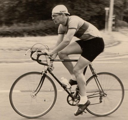 Roger Pratt of Cardiff Ajax since 1959 photographed on his Fred Dean competing in the Severn Road Club 50-mile TT in 1969