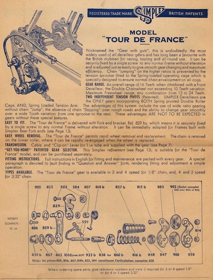 More details of the Tour de France mech.
