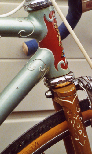 Detail showing side of Spyder head lugs and Bonum style fork crown