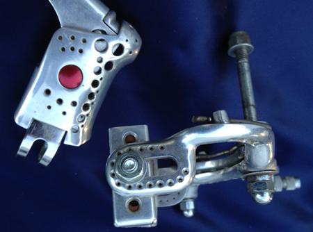 Weinmann 500 brakeset drilled by Stuart in 1975