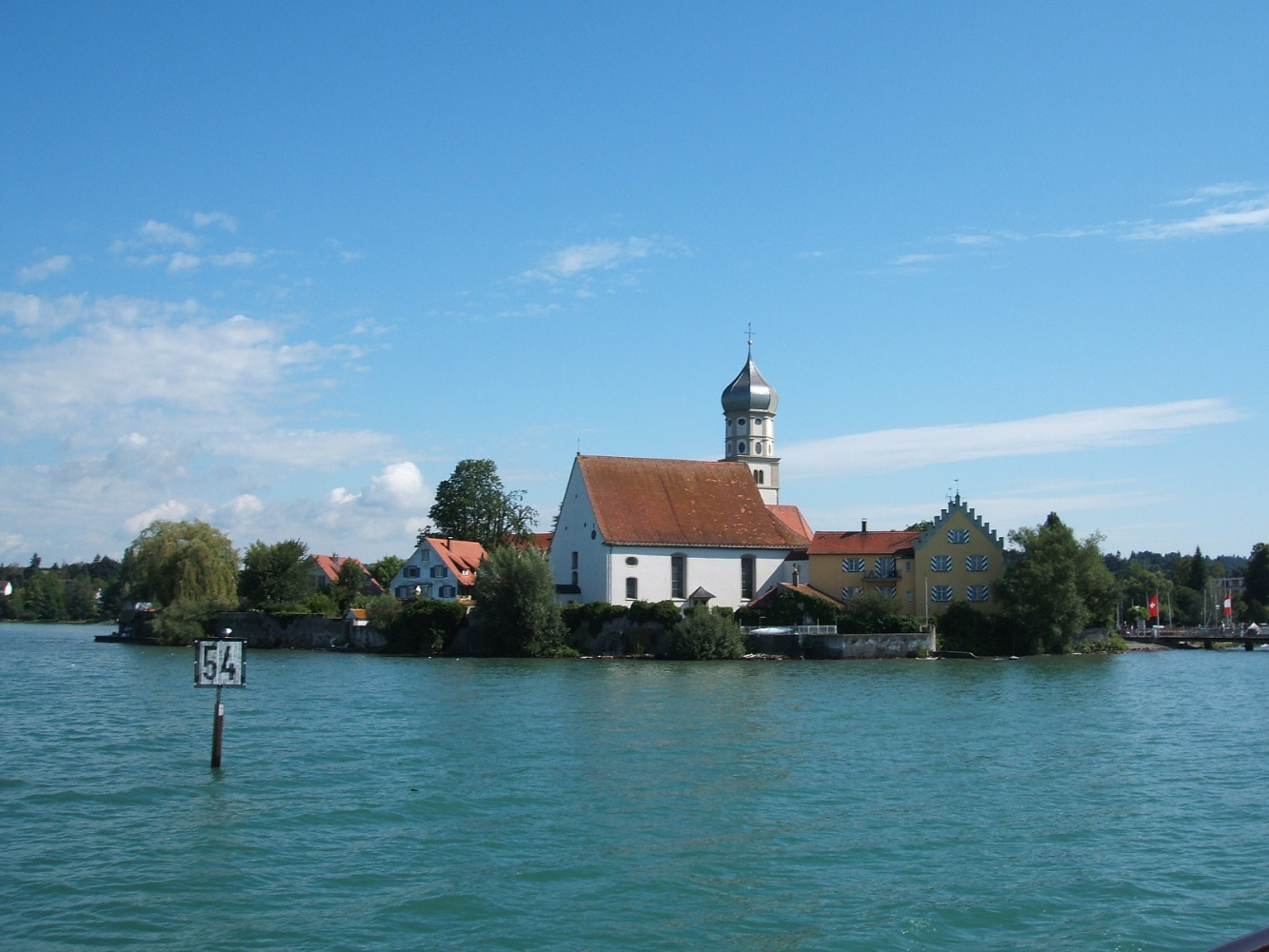 Wasserburg seen from the lake - our base for touring