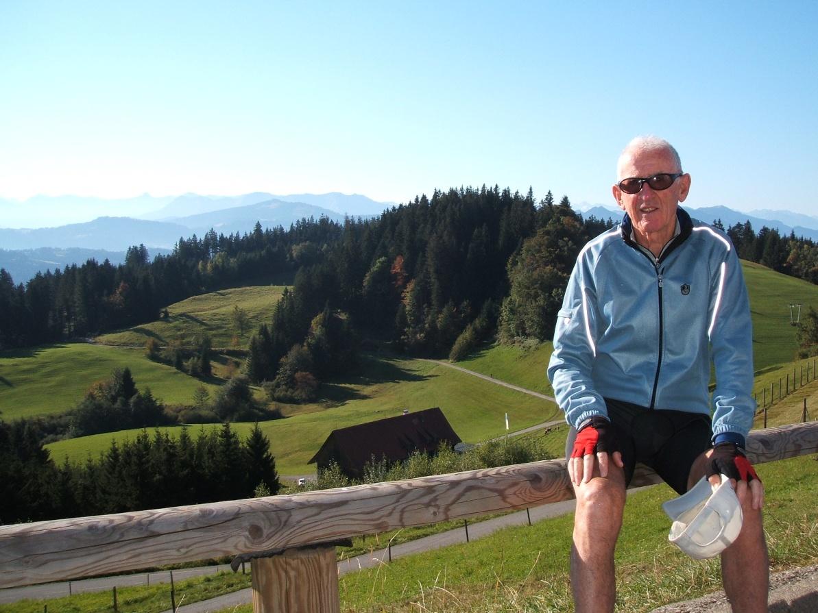 Allgau region behind Bregenz in Austria, Lichtenstein and Switzerland in background