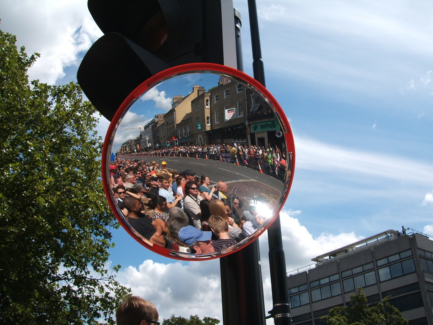 The crowd behind us at the start of stage three Tour de France Cambridge - 7 July 2014