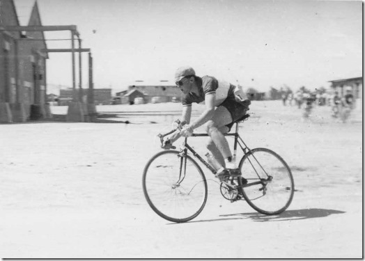 """Picture shows my original Sid Patterson in action in a """"Kermesse"""" RR around our station."""