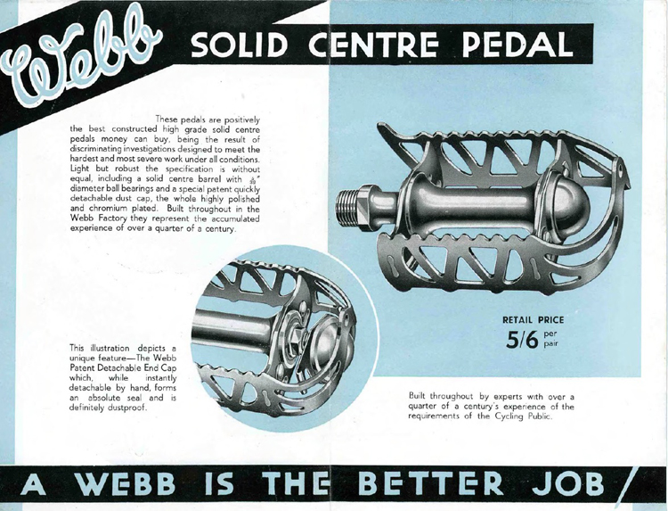 A page from the 1937 Webb catalogue