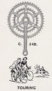 The Williams C34D (Double) basic chainset