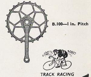 Williams steel 5-pin inch-pitch chainset