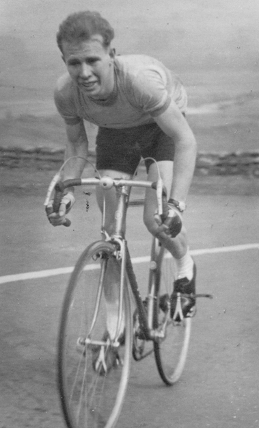A very young Brian Haskell, riding in the Circuit of The Dales Mountain 50.on his Wrigley. Believed to be in 1952