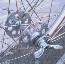 Airlite LF hubs with Cyclo alloy wingnuts
