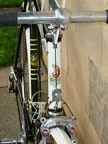 View of head showing later type Nervex Professional lugs and rare Mil Remo brakes