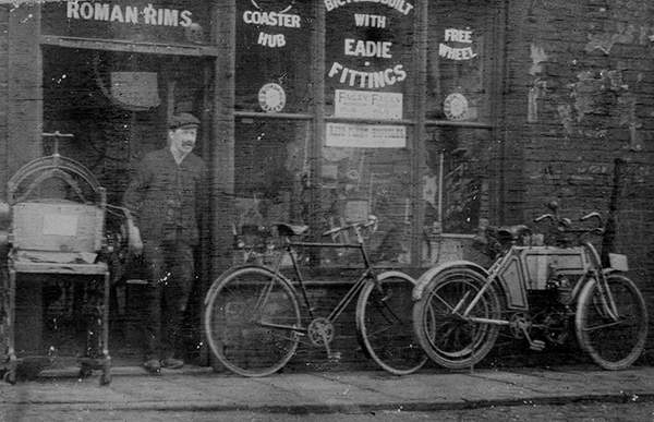 This early image of a Baines shop shows what conditions were like in this period