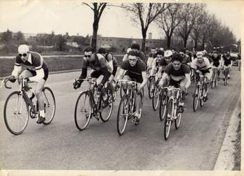 Bernard 2nd from left in the Herts Grand Prix (Junior)