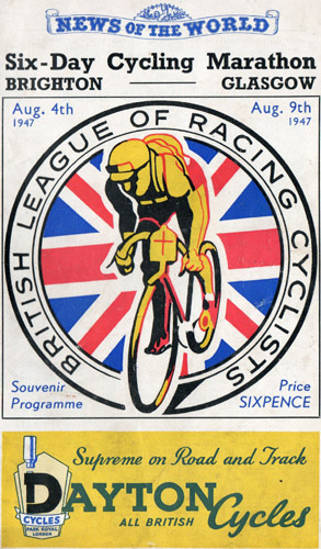 (Programme cover from Derek Browne's collection of BLRC memorabilia)