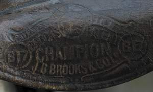 Earlier Brooks embossing probably dating from around 1915