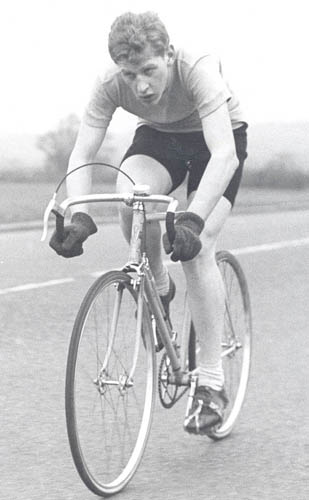 Graham Collins, South West Road Club competing in 25-mile time trial on his Owen Bryars