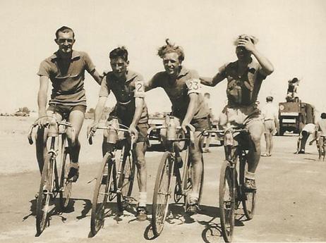 Grand Prix du Firdan - 17 June 1945 Stan Hilditch, Bert Brown, GMG and Geordie Nicholson