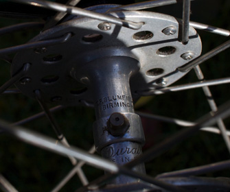 matched to a large-flange Blumfield hub in the front wheel