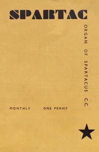 March,1936 Newsletter cover. The inside sheets were typed, duplicated and stapled inside this thicker printed cover - hence no date on the cover as they would have held a reasonable stock to cover many issues. The design was quite modern and stylish for its day and reminiscent of Russian typography of that time.