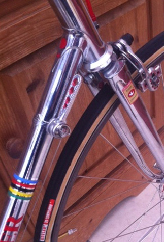 Campagnolo down tube lever with four drillings