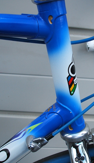 head tube with Colnago emblem