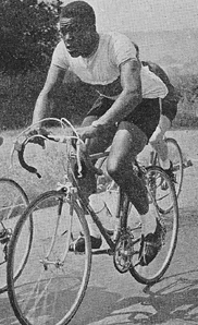 Clyde Rimplerepresenting Trinidad & Tobago in 1958 rode both the sprint and road race. Although unplaced in both he was a sign of the flourishing of cycle sport in the Caribbean.