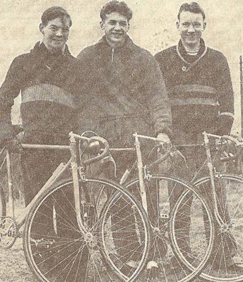 John Crump (with 1949 Claud Butler), John Chance and John Bradbury