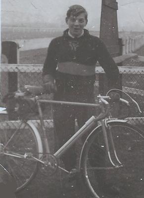 John Crump aged 16 years with his latest machine
